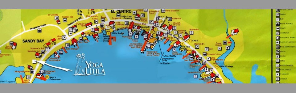 Map of Utila Honduras Courtesy of AboutUtila.com