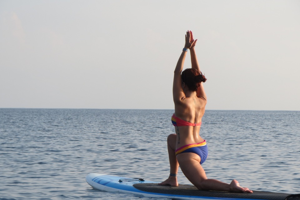 Standup Paddle Board Yoga at Yoga Utila, Bay Island, Honduras